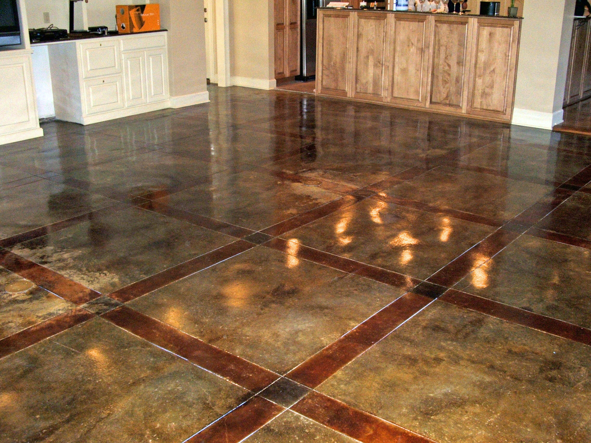 Interior for Stained concrete floors